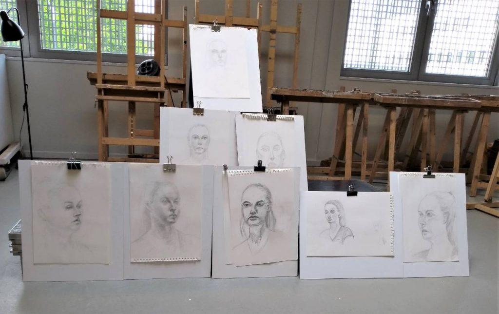 tekening gemaakt tijdens workshop portrettekenen 'de kunst van het kijken'